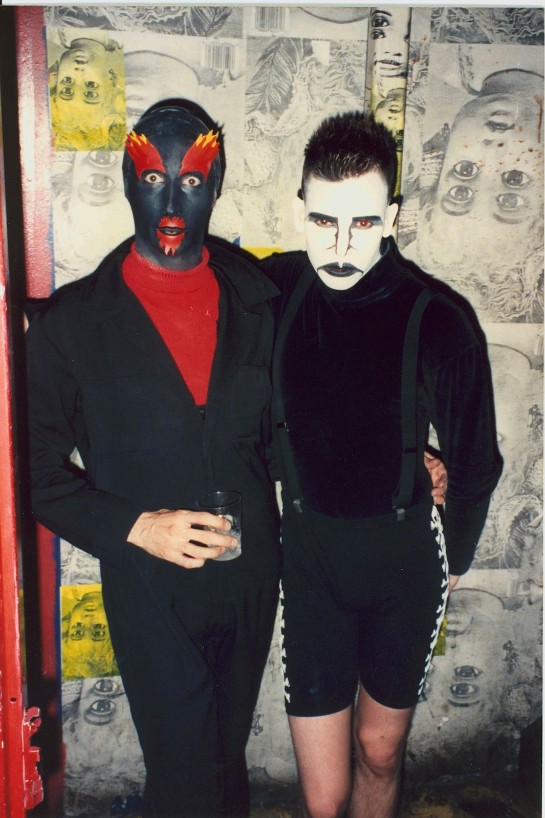 Club kids Keda, left, and Sacred Boy at the Limelight nightclub, 1992.
